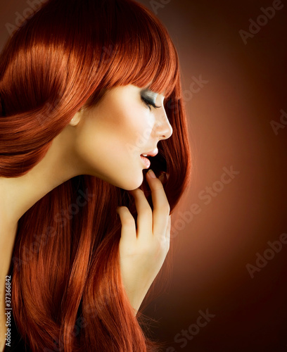 Beauty Portrait. Healthy Hair