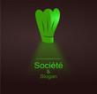 logo restaurant design vert