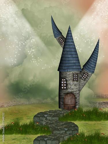 Fantasy castle - 37368252