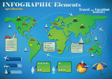 Infographic Travel Elements poster