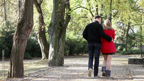 Beautiful couple walking   -  video