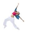 modern slim hip-hop style woman dancer break dancing