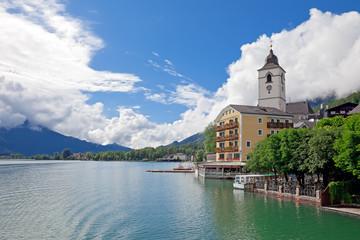 Beautiful village St. Wolfgang, Austria
