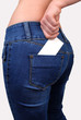 Card in jeans pocket