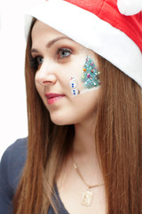 Christmas makeup. Face-art