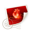 Heart, postage stamp