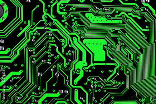 computer circuit board in black