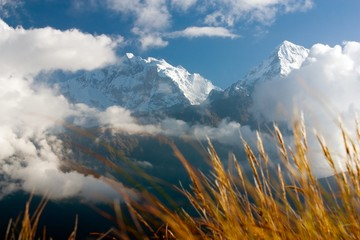 view from Poon Hill view point to Annapurna Hymal