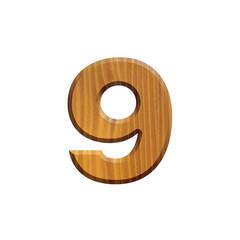 9 - Chiffre en bois - alphabet