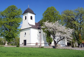 church in ruda village bohemia and moravia highlands