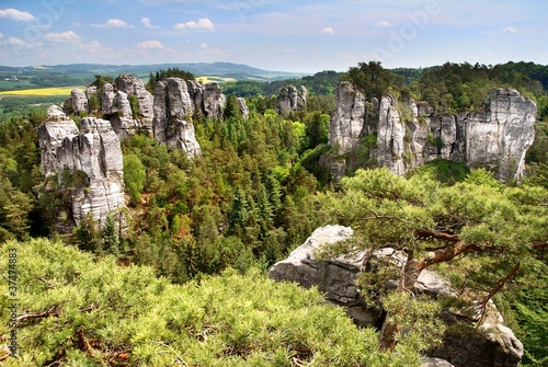 view from cesky raj - czech or bohemian paradise