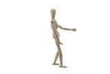 Wooden Manikin Doll Walking poster