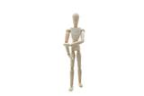Wooden Manikin Doll Tennis Elbow RSI poster