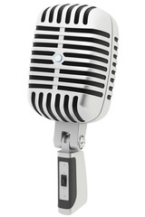 3d retro microphone isolated