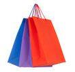 Set of colored paper shopping bags