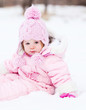 baby on the snow