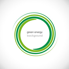 Green Energy Background # Vector