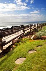 beach pedestrian road in north coast of Durban, South Africa