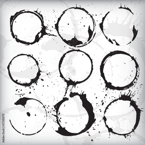 Grunge Stains Vector Set