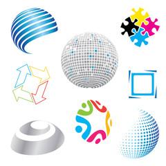 set of modern icons