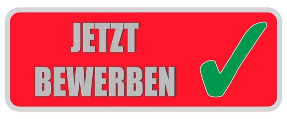 CB-Sticker rot eckig JETZT BEWERBEN