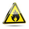 Icono peligro fuego 3D
