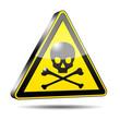 Icono peligro muerte 3D