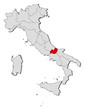 Map of Italy, Molise highlighted