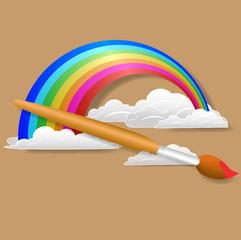 Beautiful Painting of Rainbow Cloud
