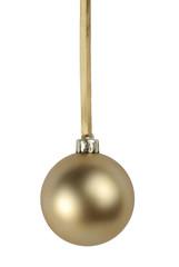 Bola decorativa de navidad silueteada