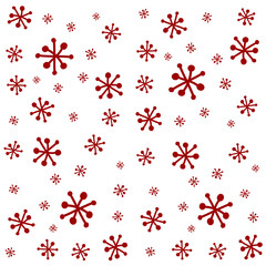 White Red Snow Background