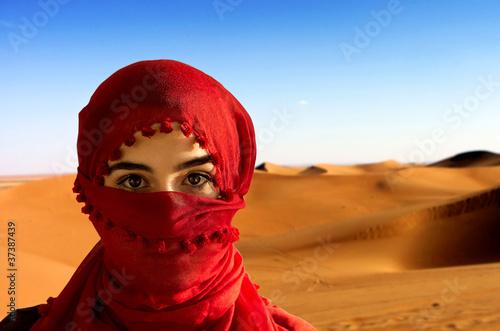 Leinwandbilder,wildnis,frau,headscarf,hitze