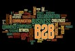 B2B concept in tag cloud on black background