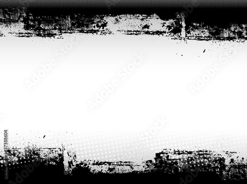 Abstract Grunge Border Graphic Design