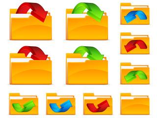 Folders with arrows