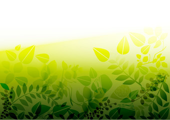 vector - green banner with a glow