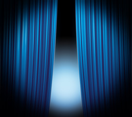 Blue Curtain Highlight