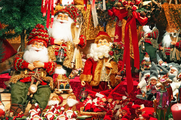 Christmas decorations at a Christmas Market.
