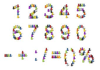 Zahlen und Rechenzeichen als Spielfiguren