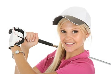 Lovely Blond Golf Woman