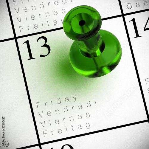 vendredi 13 calendrier