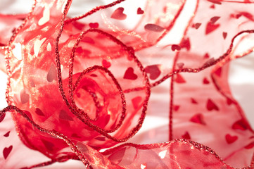 Ruban rouge coeur