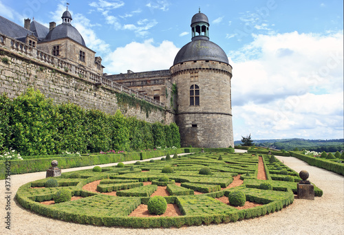 Gardens and Chateau de Hautefort, Perigord, France