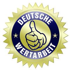 deutsche wertarbeit button gold
