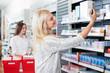 Woman Buying Medicine in Pharmacy