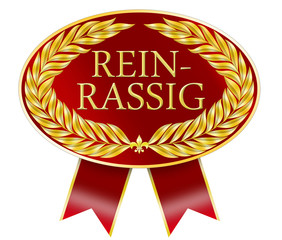 reinrassig roter button