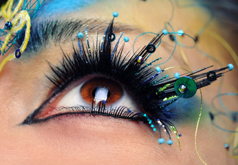 Beautiful eye make-up close-up