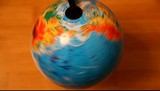 rotation around the axis of the globe poster