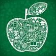 Background school apple