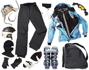 Female skier clothing